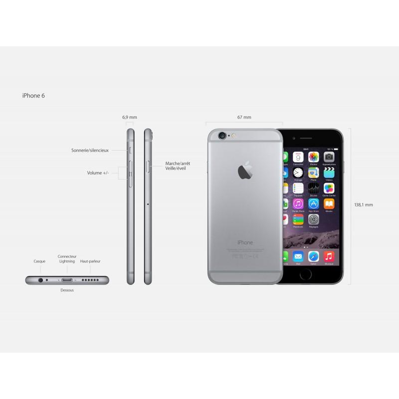 smartphone apple iphone 6 4 7 pouces factice de demonstration. Black Bedroom Furniture Sets. Home Design Ideas