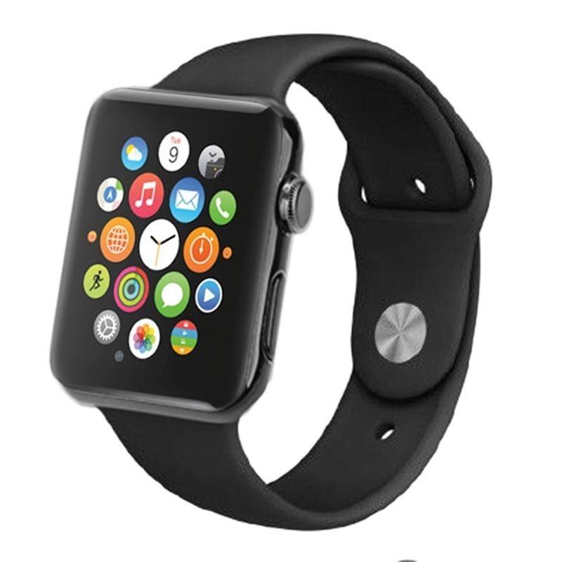 montre connect smartwatch apple watch sport factice sans composant finition m tal boutique. Black Bedroom Furniture Sets. Home Design Ideas