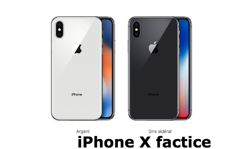 iPhone X factice